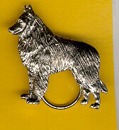 Belgian Shepherd Sheepdog Nickel Silver Eyeglass Holder Pin Jewelry