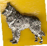 Belgian Shepherd Sheepdog Nickel Silver Brooch Pin Jewelry