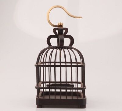 Vintage Wood Birdcage Old Canary Pet Supplies Collectible Gift