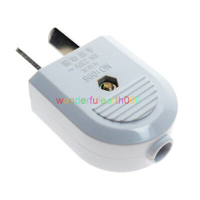 (3 PCS) AU,New Zealand,China 2 Flat Pin DIY Rewireable Power Plug AC100~220V 10A