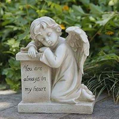 Memorial Angel Garden Statue You Will Always Be In My Heart Cat Dog Person