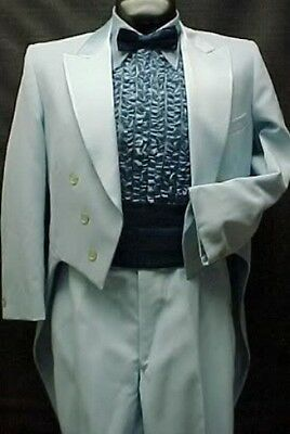 LIGHT BABY BLUE TAIL TUX JACKET or 4pc RETRO LORD WEST TUXEDO VINTAGE MENS PROM