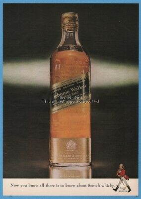 1963 Johnnie Walker Black Label All There is to Know About Scotch Whisky Ad