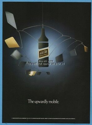 1988 Johnnie Walker Scotch Whisky The Upwardly Mobile Black Label Photo Ad