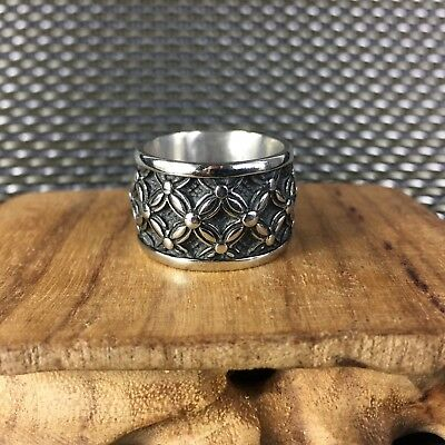 Antique Chinese Collectible old Tibet Silver Handwork Flowers N0.8 nice Ring