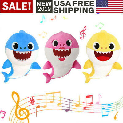 Cartoon PinkFong Plush Fox Sharks Dolls Animal Toys for Children Baby Kids Gift