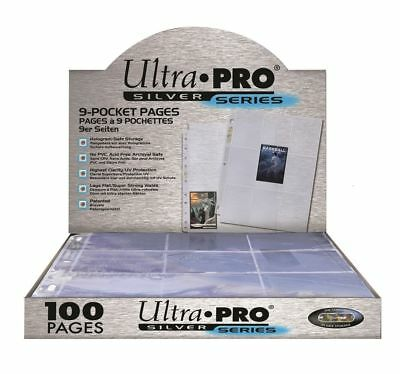Ultra Pro Silver Series 9 Pocket Afl Pokemon Trading Card Sleeves 30 Pages