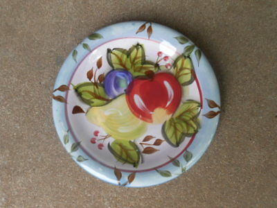 "Heritage BLACK FOREST Fruits  8"" SALAD PLATE with Stickers"