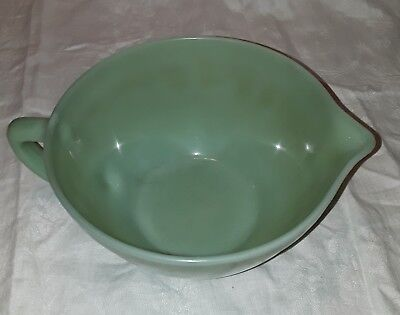 jadeite Fire King mixing bowl 8.5 inches wide, 4.5 inches high. Good condition