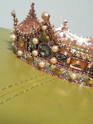 Royal Medieval Queen Princess Crown with Gems Renaissance Costume