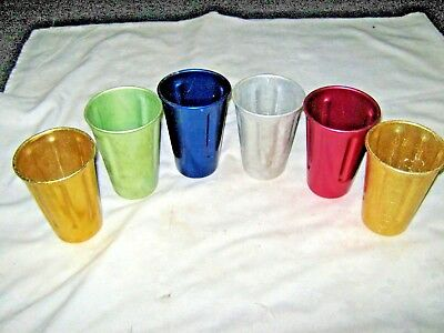 A Lot of 6 Mixed Vintage Reproduction Anodised & Aluminium Milkshake Cups