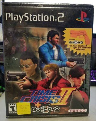 Time Crisis II + Guncon 2 (Sony PlayStation 2, 2001) PS2 Never Opened Brand NEW!