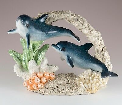 """Bobble Dolphin On Spring Figurine 4.25/"""" Long Glossy Finish Resin New!"""