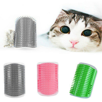 Funny Cat Pet Self Groomer Brush Wall Corner Grooming Massager Comb Comfort Toy