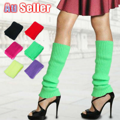 Disco Crochet Knit Winter Warmers Legging Dance Socks Leg Party Costume Womens