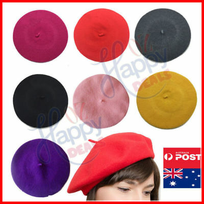 Ladies Winter Wool Hat Warm French Women's Acrylic Unisex Newsboy Beret Cap