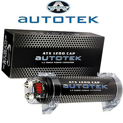 Autotek At1200 Power Cap 1,2 Farad Kondensator Mit Halerung