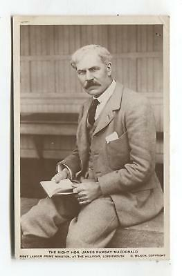 James Ramsay MacDonald - Labour Prime Minister at Lossiemouth - old postcard