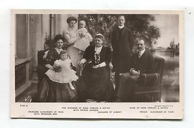 Duchess of Saxe Coburg & Gotha, other royalty & children - 1909 used postcard