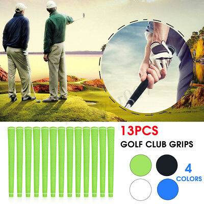 13PCS Durable Soft Rubber Golf Club Grip Grips Brassie Handle Cover Replacement