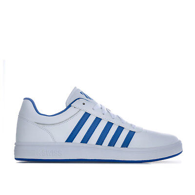 Mens K-Swiss Court Cheswick S Trainers In White Blue
