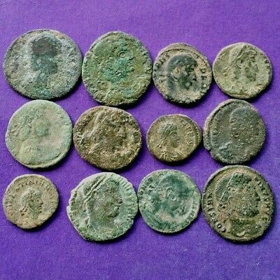 M2880 Lot of 12 bronze Roman coins (2oz) 13-20mm