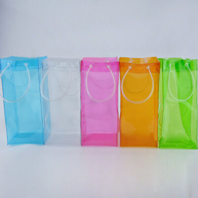 with two handles Bag Wine Champagne Bucket Ice Bottle Cooler Chiller Foldable