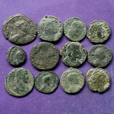 M2886 Lot of 12 bronze Roman coins (2oz) 13-22mm