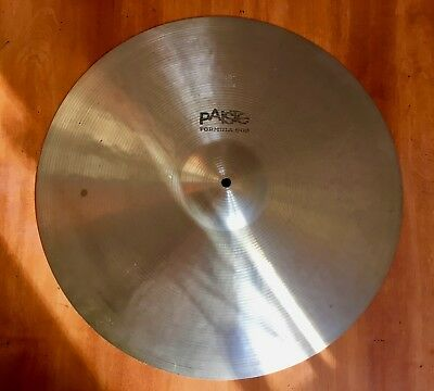 "Vintage Paiste Formula 602 Medium Ride 20""    black label  70´s"