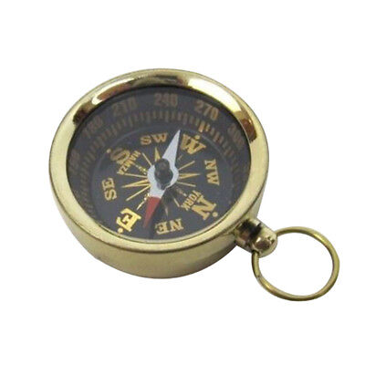 Benzara Pocket Compass, Brass