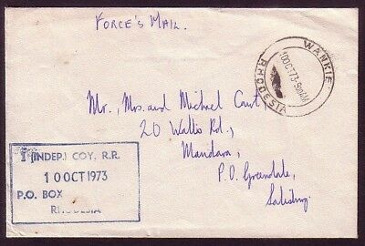 Rhodesia Forces Mail: 1973 1 (Indep) Coy RR .. Wankie