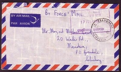 Rhodesia Forces Mail: 1973 By Forces Mail .. Cranborne