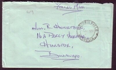 Rhodesia Forces Mail: 1977 4 (Indep) Coy RR .. Bulawayo .. Victoria Falls
