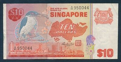 "Singapore: 1979 $10 Bird Series ""SEGMENTED THREAD"". Pick 11b"