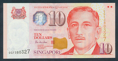 Singapore: 1999 LAST PAPER $10 President Ishak Series. Pick 40 UNC Cat $24