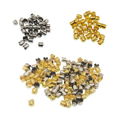 160 Pieces Metal Flower Cap Beads DIY Crafts Jewelry Making Findings