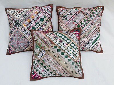 37x37cm Orient Patchwork Kissen Kissenhülle Embroidered pillow Cushion cover -B