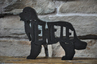 Newfoundland Black Dog Wooden Amish made Toy Puzzle  Newfie