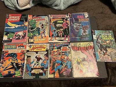 Lot of 9- Vintage Comics - Bronze Age Comic Books  Space Ghost #1
