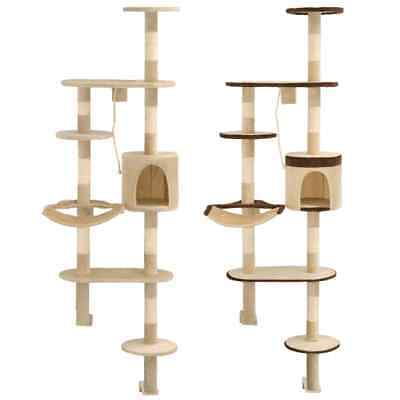 vidaXL Arbre à Chat Griffoir Sisals Grattoir Animaux Beige/ Beige et Marron