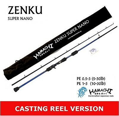 2016 Hamachi Zenku Nano Jig 7'0 PE 1- 3 Japanese jigging fishing rod pole O/HEAD