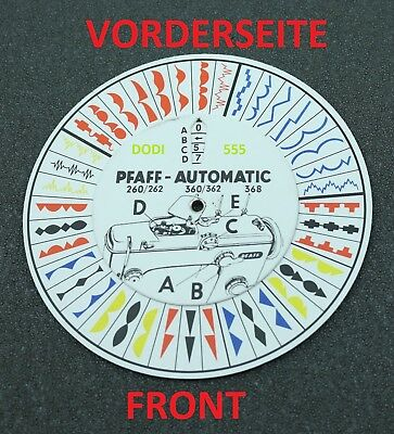 Pfaff disc, template, disc for models / types 260, 262, 360, 362 and 368, new.