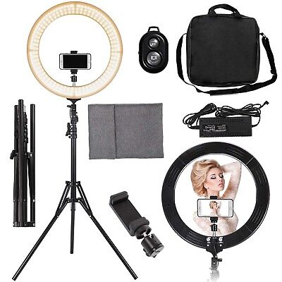 """19"""" 5500K Dimmable LED Ring Light With Stand Portable Light Adjustable Video"""