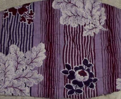 BEAUTIFUL FRAGMENT QUILTED 19th CENTURY BLOCK PRINT c1840s,  32.
