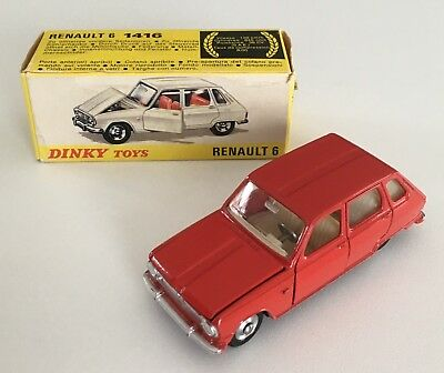 DINKY TOYS ancienne Renault 6 made in France avec sa boîte