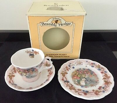 Vintage Royal Doulton Brambly Hedge Afternoon Teaset Autumn Cup plate & Saucer