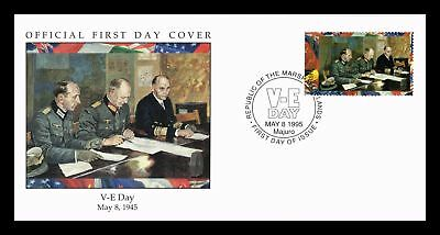 Dr Jim Stamps Wwii Ve Day First Day Issue Marshall Islands Monarch Size Cover