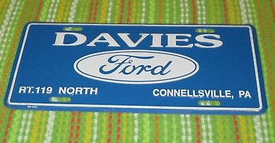 Davies Ford Rt.119 North Connellsville, Pa Novelty Aluminum License Plate