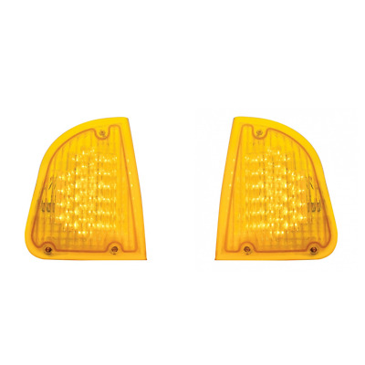 Kenworth T600 LED Turn Signal Lights / Amber LED Amber Lens /Pair Left and Right