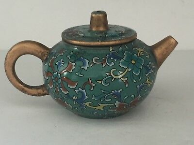 Miniature Antique Vintage Chinese Japanese Earthenware TEAPOT Signed